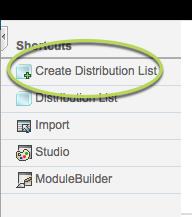 Create Distribution list